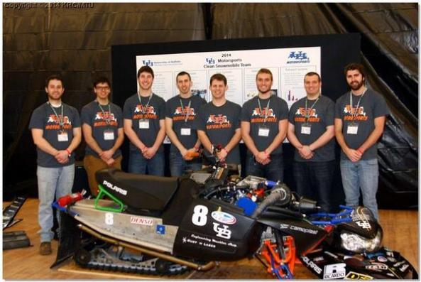 UB University at Buffalo Engineering student snowmobile challenge winners congratulations from Appolson's Performance Center great job biofuel
